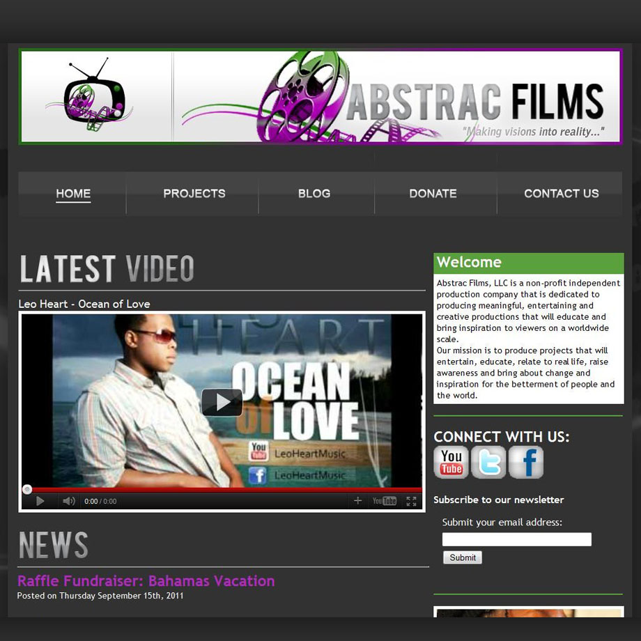 Abstrac Films Website
