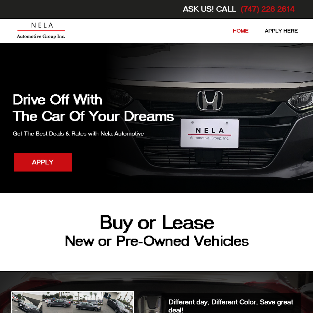 Nela Automotive Website